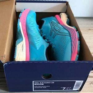 Asics Shoes - ASICS Gel-Kayano 25 Running Shoe Aquarium Black 7